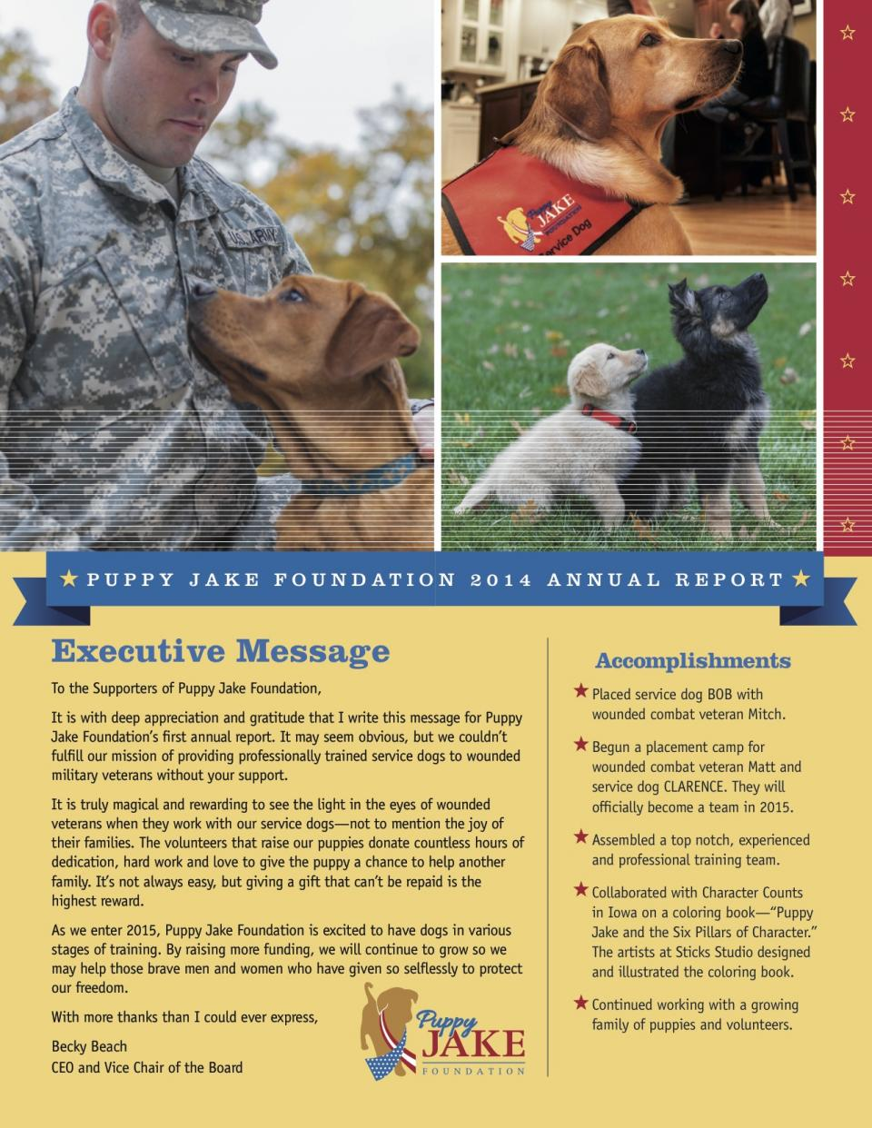 Thank You To So Many Generous Individuals Corporations And Foundations That Support Our Mission Provide Professionally Trained Service Dogs Wounded