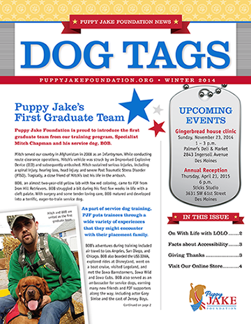 Puppy Jake Foundation newsletter